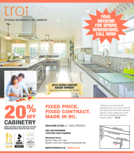 Troico Kitchens Coquitlam Vancouver Advertising and Marketing by JM Media